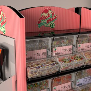 "Floor display Spar ""pick & mix"""