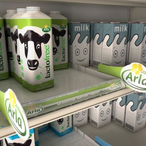 Merchandising : Lineaire Arla LactoFree