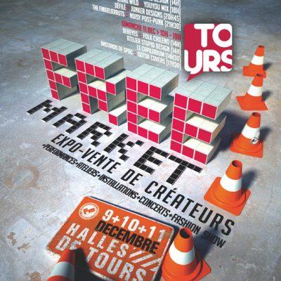 affiche free market de Tours 2011