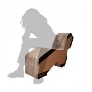 Fauteuil 3 positions chaiselongue